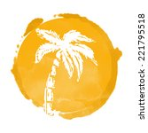 watercolor circle paint stain... | Shutterstock .eps vector #221795518