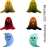 multicolored isolated ghost...   Shutterstock .eps vector #221799748