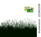 grass silhouette background.... | Shutterstock .eps vector #221802358