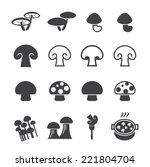 mushroom icon | Shutterstock .eps vector #221804704
