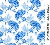 floral pattern. watercolor... | Shutterstock . vector #221810620