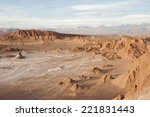 valley of the moon   atacama... | Shutterstock . vector #221831443