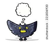 cartoon halloween bat   Shutterstock .eps vector #221836930