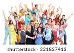 group of workers people....   Shutterstock . vector #221837413