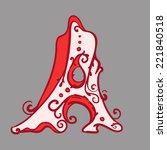 """alphabet """"frizz"""" a   Shutterstock .eps vector #221840518"""