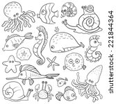 Coloring Book  Sea Life   Set...