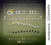 vector forecast widget template ... | Shutterstock .eps vector #221844454