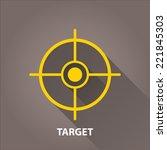 vector target icons . vector... | Shutterstock .eps vector #221845303