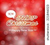 christmas shop shine badge ...   Shutterstock .eps vector #221846023