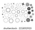 sparkles and starbursts set | Shutterstock .eps vector #221852923