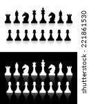 vector chess icons silhouettes... | Shutterstock .eps vector #221861530