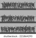 dancing silhouette | Shutterstock .eps vector #221864293