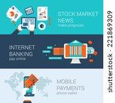 online mobile business concept... | Shutterstock .eps vector #221869309