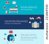 hotel booking travel business... | Shutterstock .eps vector #221869540