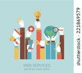 online internet services flat...   Shutterstock .eps vector #221869579