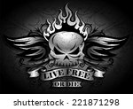 live free or die   tribal  ... | Shutterstock .eps vector #221871298