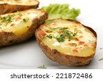 Baked Potato With Cheese And...