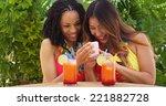 two best friends taking selfie... | Shutterstock . vector #221882728