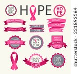 breast cancer awareness ribbons ... | Shutterstock .eps vector #221893564