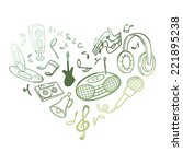 template musical objects.... | Shutterstock .eps vector #221895238