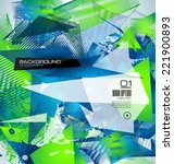 abstract modern poligonal... | Shutterstock .eps vector #221900893