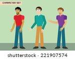 funny and sharp cartoon... | Shutterstock .eps vector #221907574