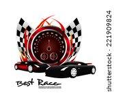 racer vector icon | Shutterstock .eps vector #221909824