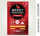 invitation merry christmas.... | Shutterstock .eps vector #221923180