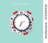 clock and calendar. time... | Shutterstock .eps vector #221924410