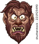 angry werewolf face. vector... | Shutterstock .eps vector #221925490