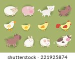 countryside animals made out of ... | Shutterstock .eps vector #221925874