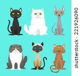 cat breed set vector... | Shutterstock .eps vector #221926090