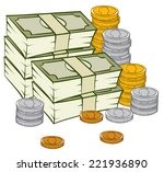 an illustration of a stack of... | Shutterstock .eps vector #221936890