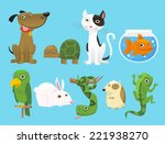 animal set  with dog  turtle ... | Shutterstock .eps vector #221938270