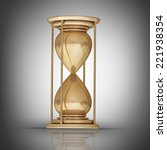 golden hourglass sand clock.... | Shutterstock . vector #221938354