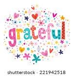 grateful typography lettering... | Shutterstock .eps vector #221942518