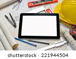 tablet computer with... | Shutterstock . vector #221944504