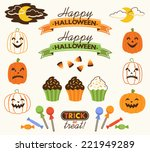 Retro Halloween Vector...