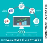 concept of seo word combined... | Shutterstock .eps vector #221955148