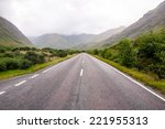 lonely road in the scottish... | Shutterstock . vector #221955313