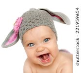 portrait of smiling baby in the ... | Shutterstock . vector #221959654