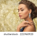 people  holidays and glamour... | Shutterstock . vector #221960920