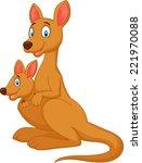 cartoon red kangaroo carrying a ...   Shutterstock .eps vector #221970088