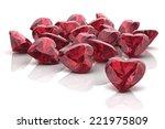 ruby  on white background ... | Shutterstock .eps vector #221975809