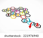 restructuring concept... | Shutterstock .eps vector #221976940