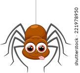 cute spider cartoon | Shutterstock .eps vector #221978950