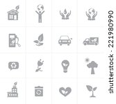 ecology icons set | Shutterstock .eps vector #221980990