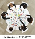 teamwork of businesspeople that ... | Shutterstock . vector #221982709