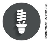 fluorescent lamp bulb sign icon....