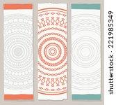 set of ethnic vertical banners | Shutterstock .eps vector #221985349